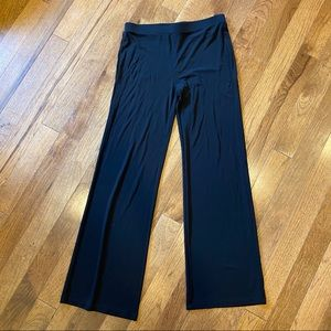 DKNY BLACK FLARE WIDE LEG STRETCHY EVENT PANTS